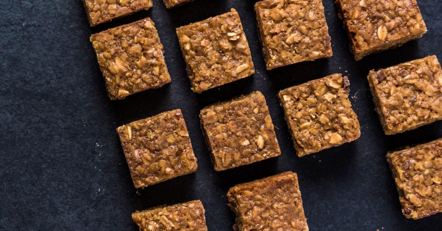 Brownies veganos de avena