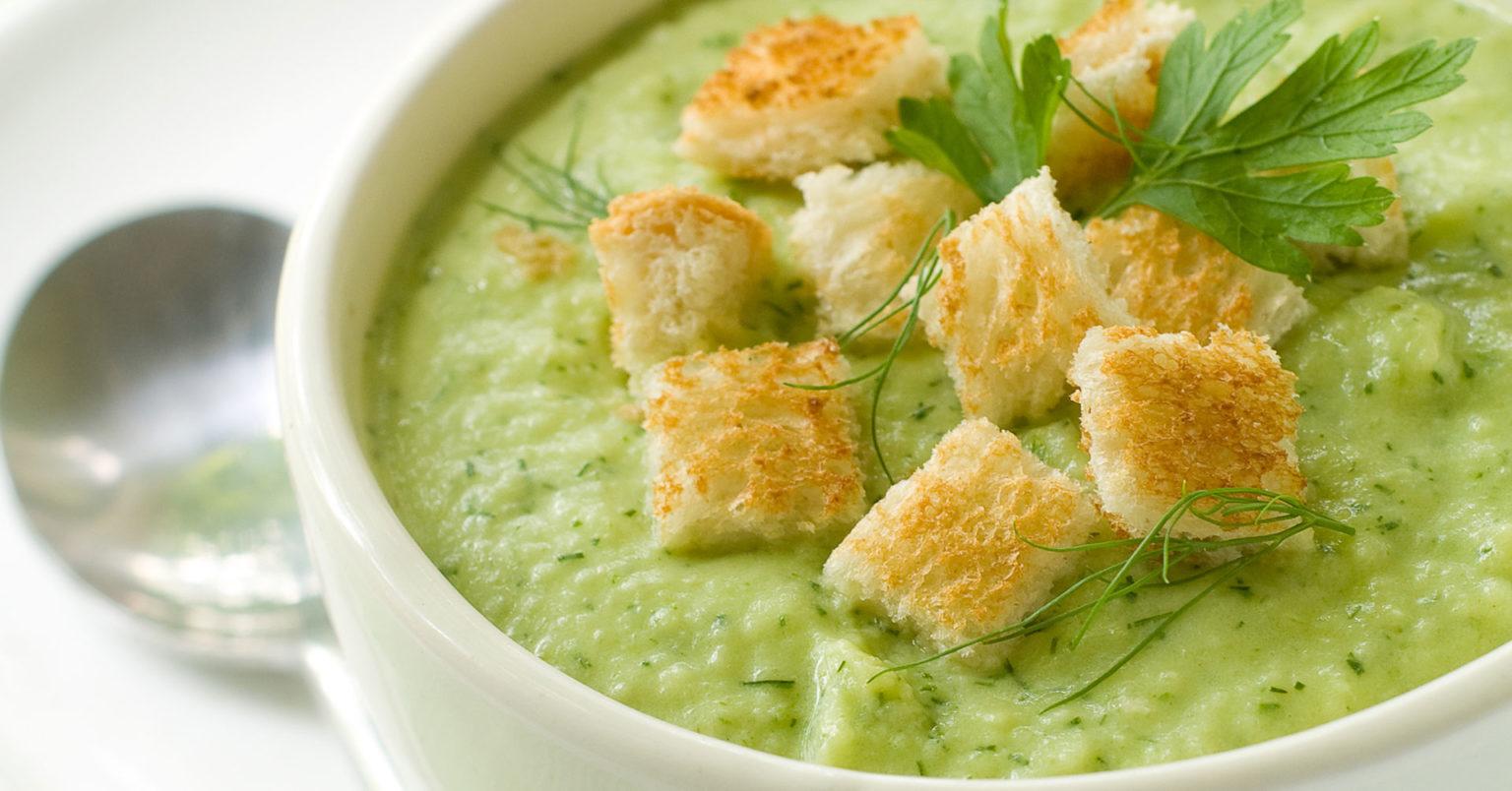 Crema de brócoli y avena