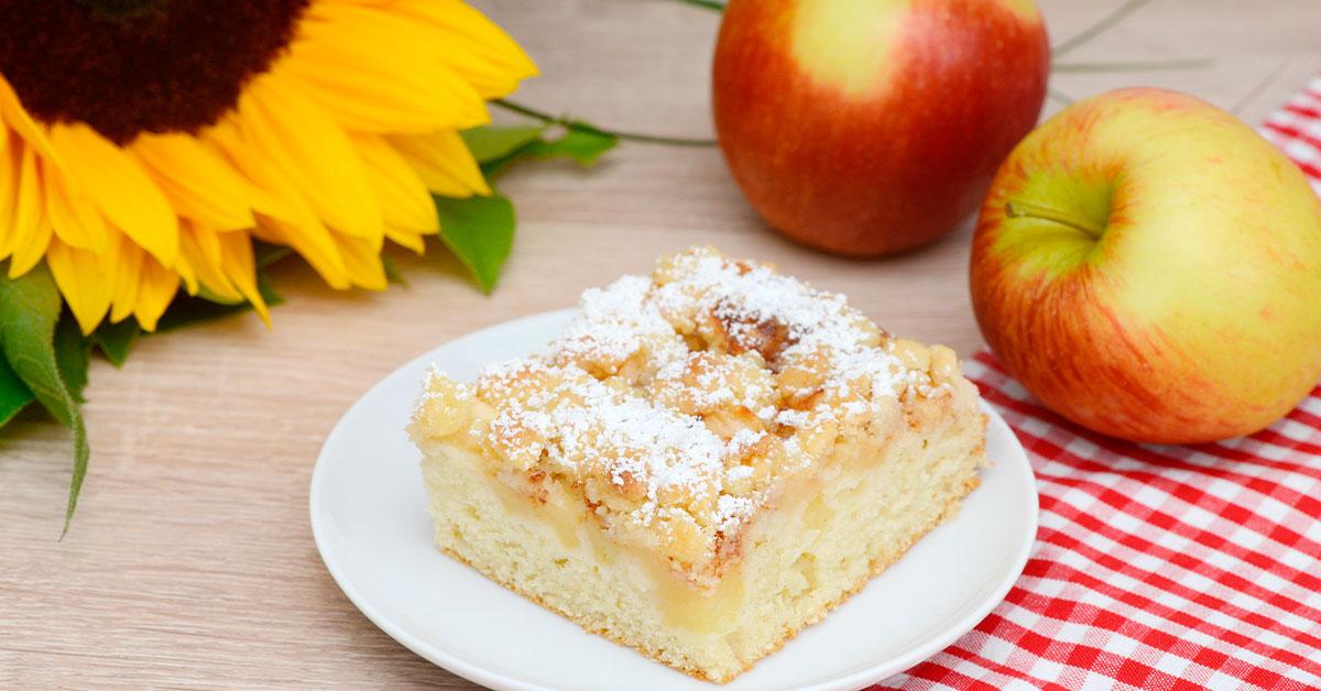 Pastel de manzana y avena