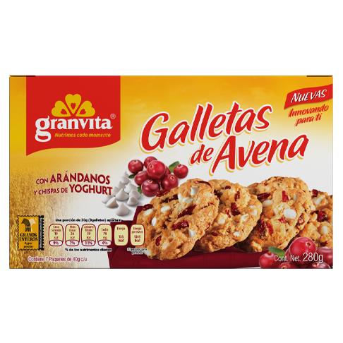 Galletas de Avena plegadizo con Arándanos y Chispas de Yoghurt 280 g