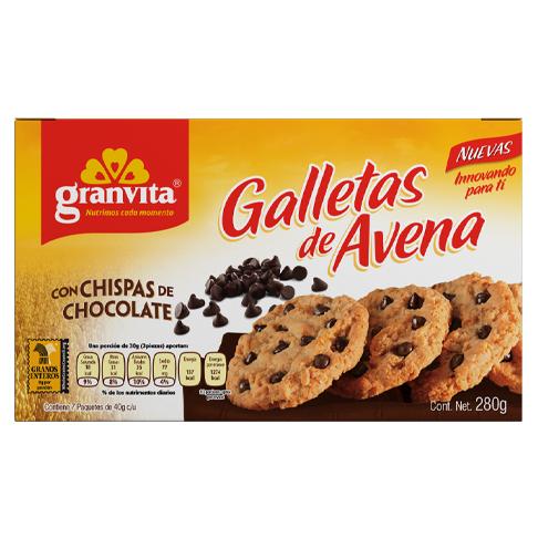 Galletas de Avena plegadizo con Chispas de Chocolate 280 g