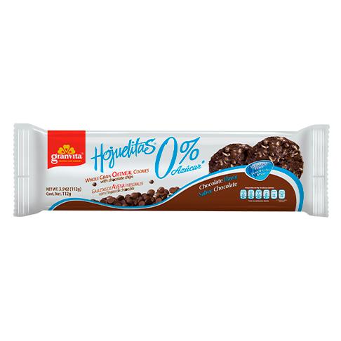 Hojuelitas 0 % Azúcar* en tubo Sabor Chocolate 112 g