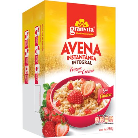 Avena Instantánea Integral Fresas con Crema 280 g