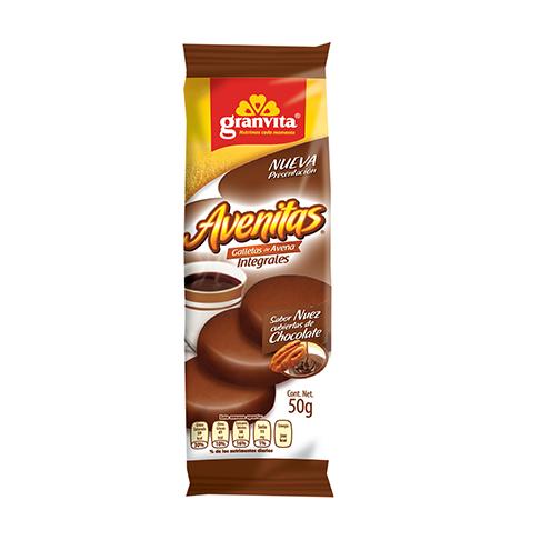 Avenitas paquetín Sabor Nuez Cubiertas de Chocolate 50 g