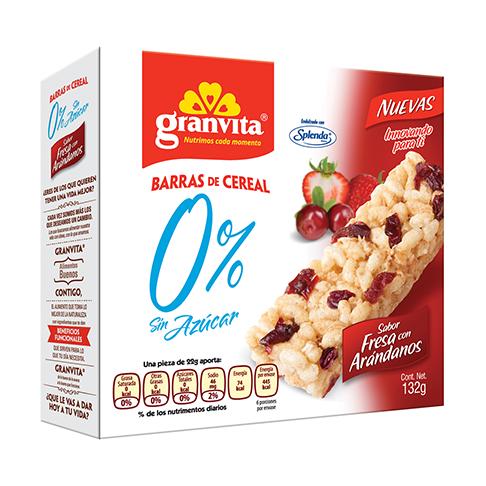 Barras 0 % Sin Azúcar Sabor Fresa con Arándanos Plegadizo 132 g