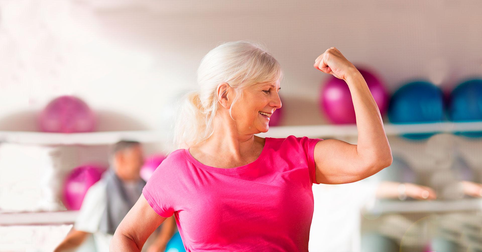 Rutina de ejercicios para adultos de la tercera edad