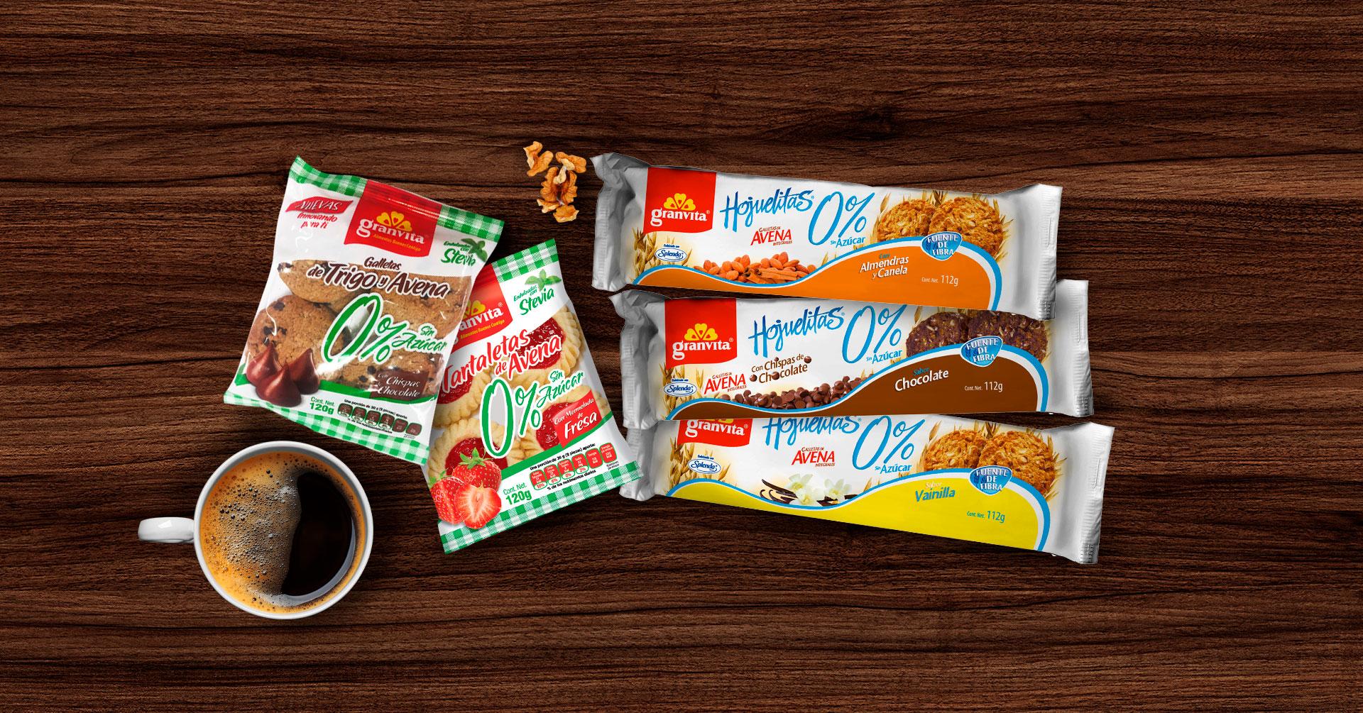 5 galletas de avena marca Granvita que te encantarán