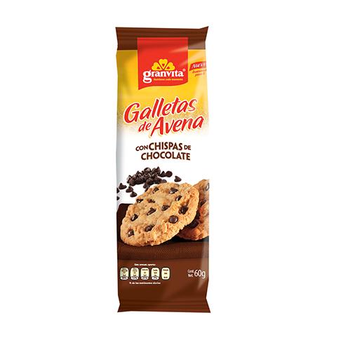 Galletas de Avena paquetín Con Chispas de Chocolate 60 g