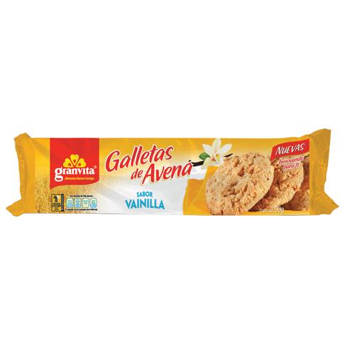 Galletas de Avena en tubo Sabor Vainilla 90 g