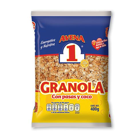 Granola con pasas y coco No.1 400 g