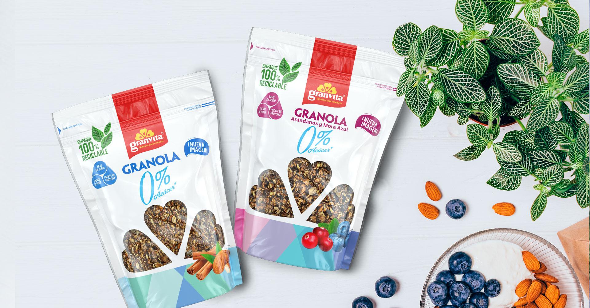 Conoce los beneficios de las Granolas Granvita para tu salud