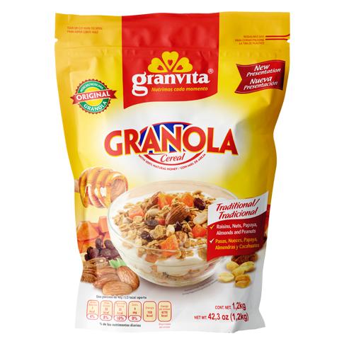 Granola con Frutas, Nuez y Almendras 1.2 Kg