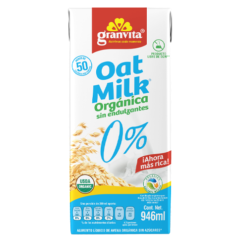 Oat Milk Orgánica 0 % 946 ml