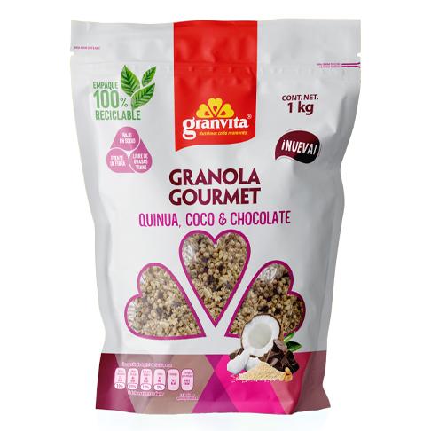 Granola Gourmet con Quinua, Coco y Chocolate 1 kg