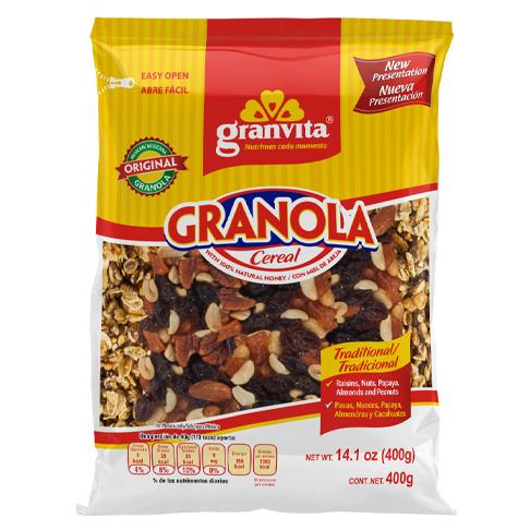 Granola con Frutas, Nuez y Almendras 400 g