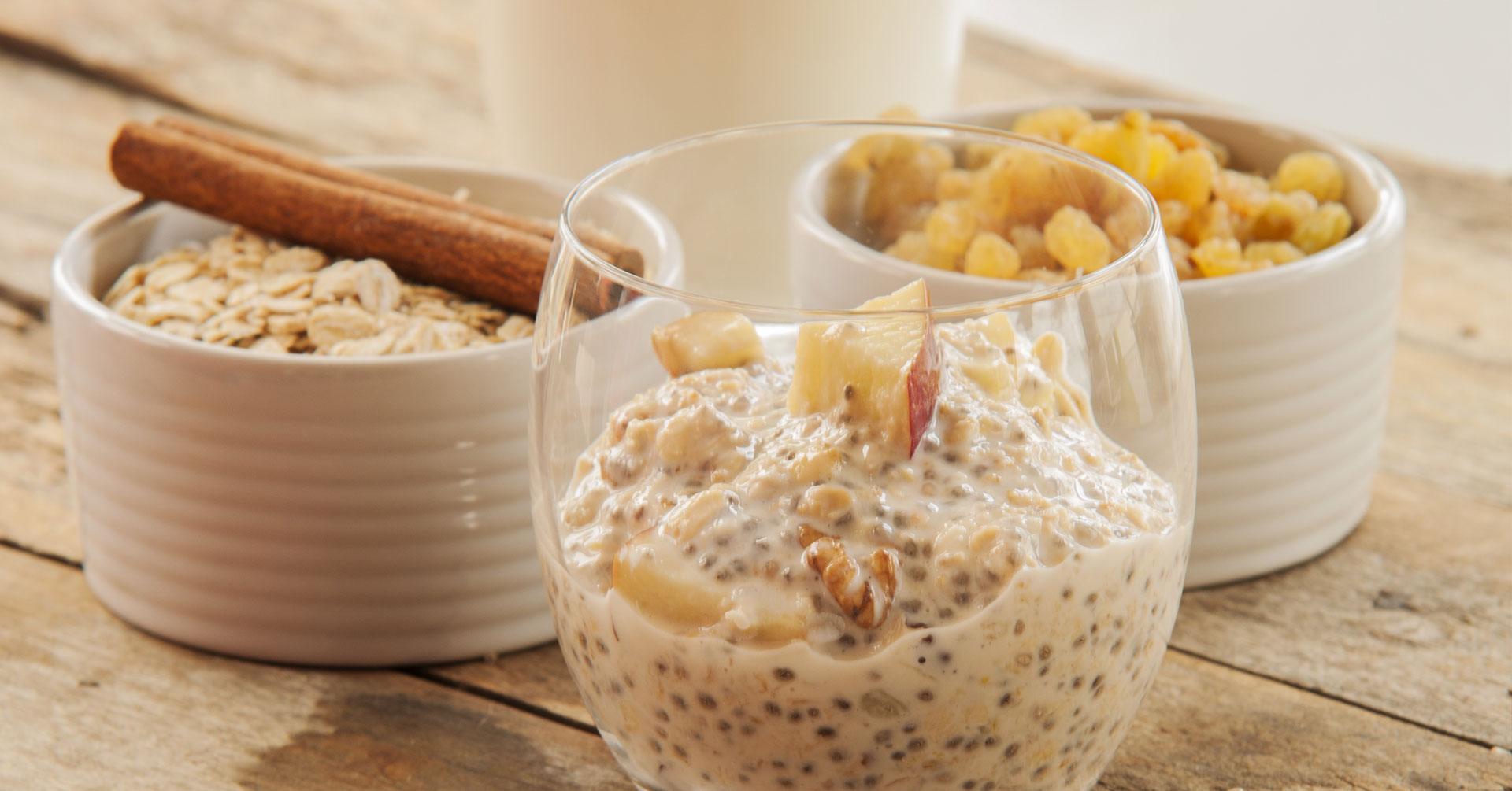 Prepara un rico desayuno con avena y chía