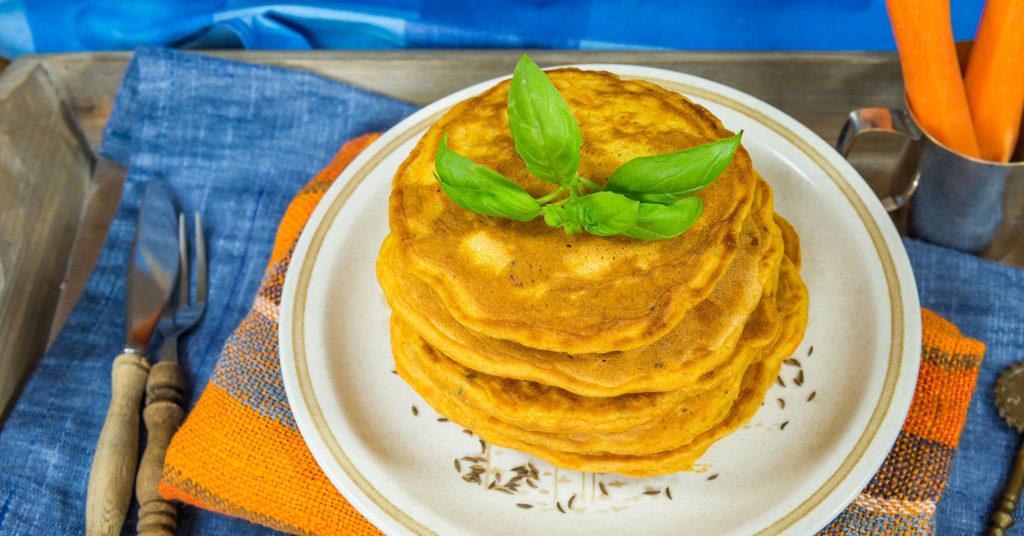 Imagen de hot cakes de zanahoria