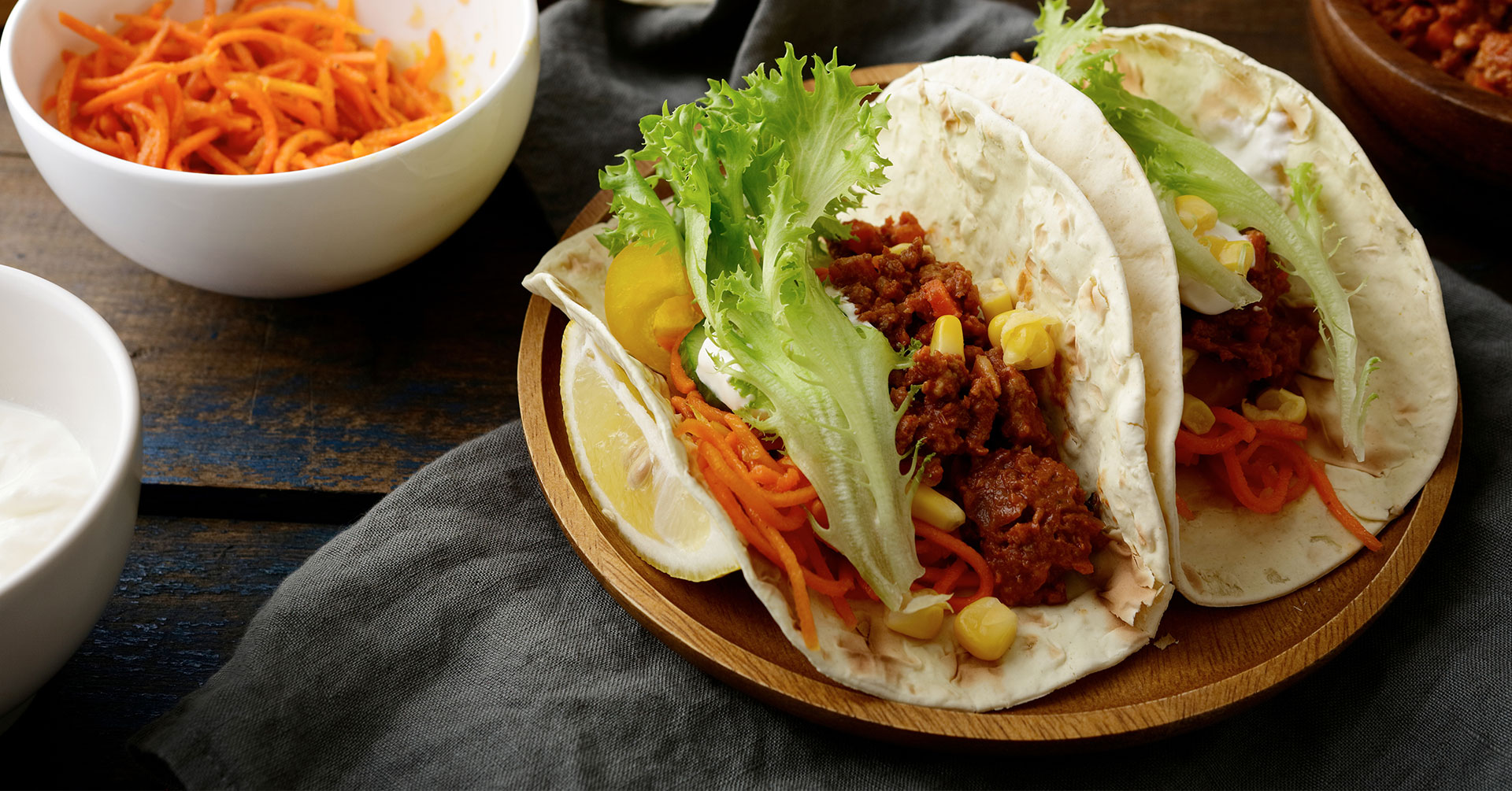 Tacos de zanahoria con harina de avena