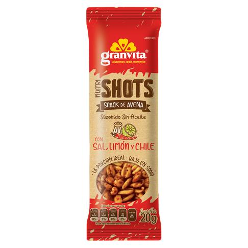 Nutrishots Con Sal, Limón y Chile 20 g