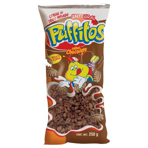 Puffitos en bolsa Sabor Chocolate 250 g