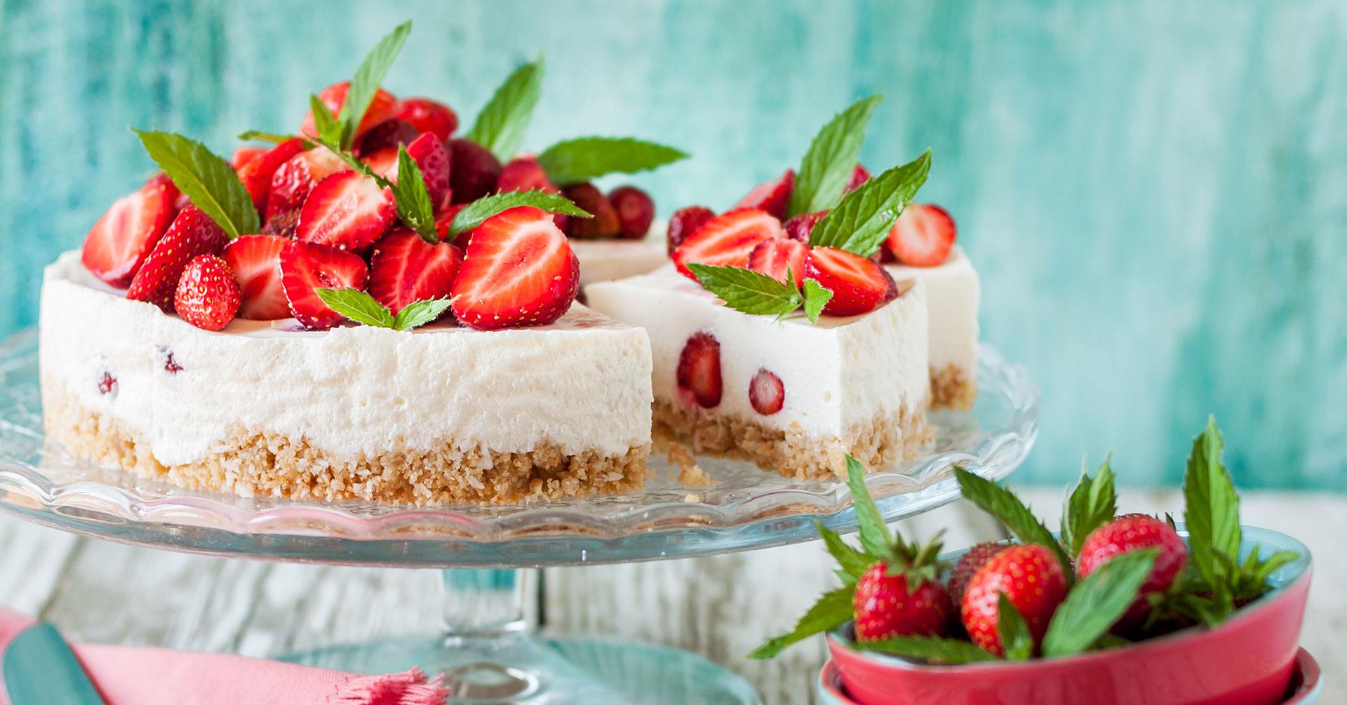 Cheesecake de fresa sin horno