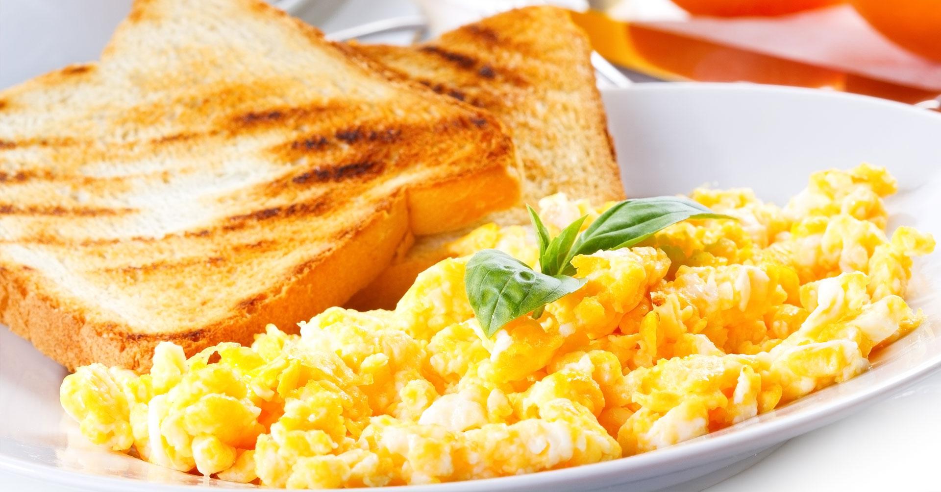 Huevos revueltos con avena