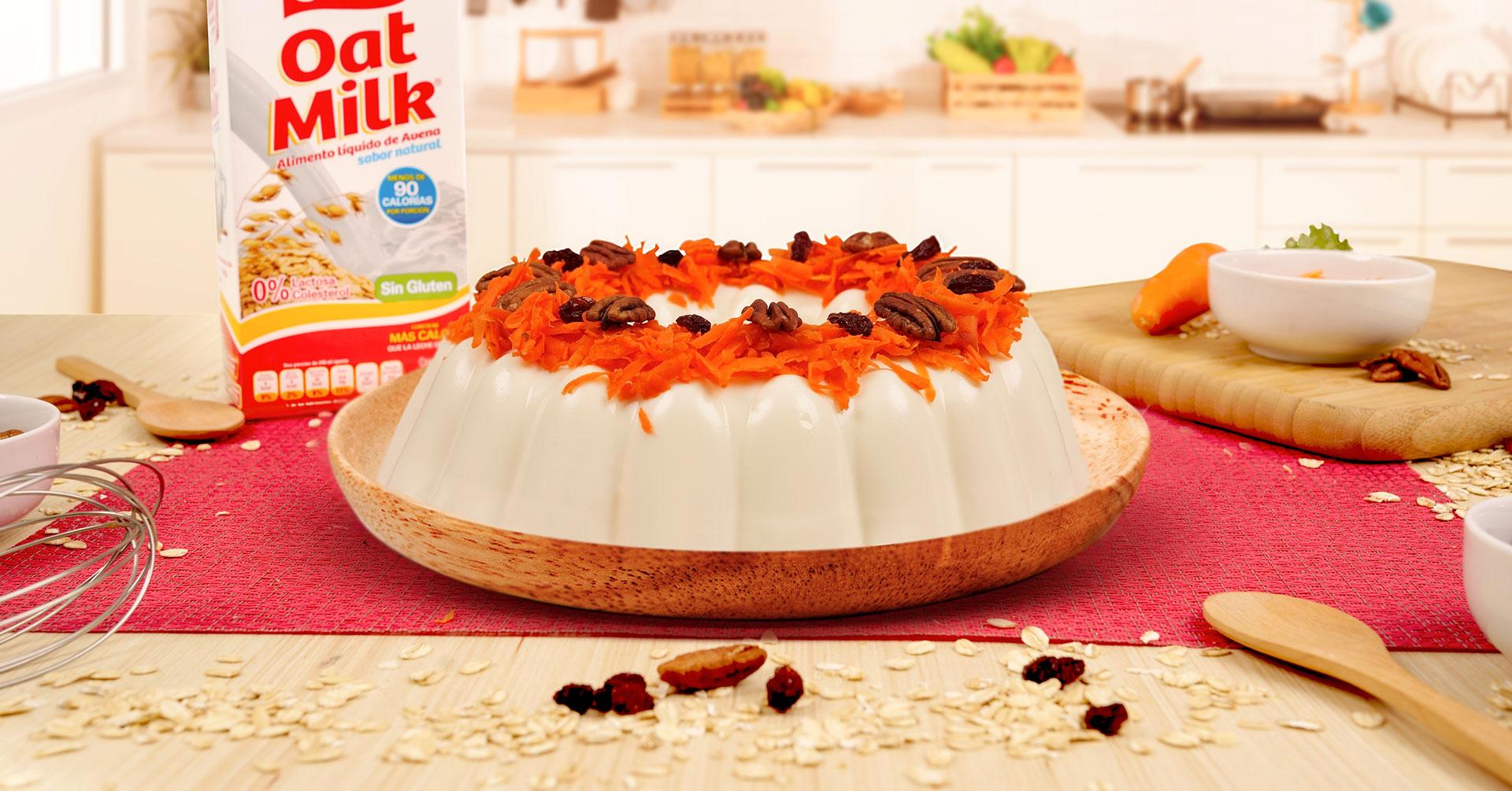 Gelatina de zanahoria con avena