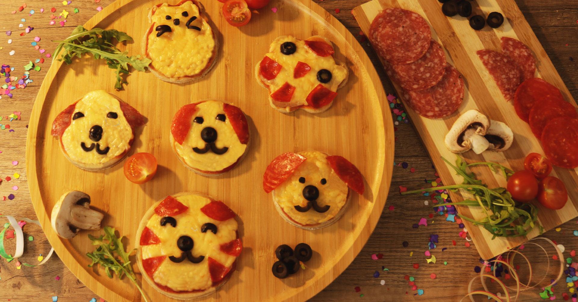Minipizzas de avena