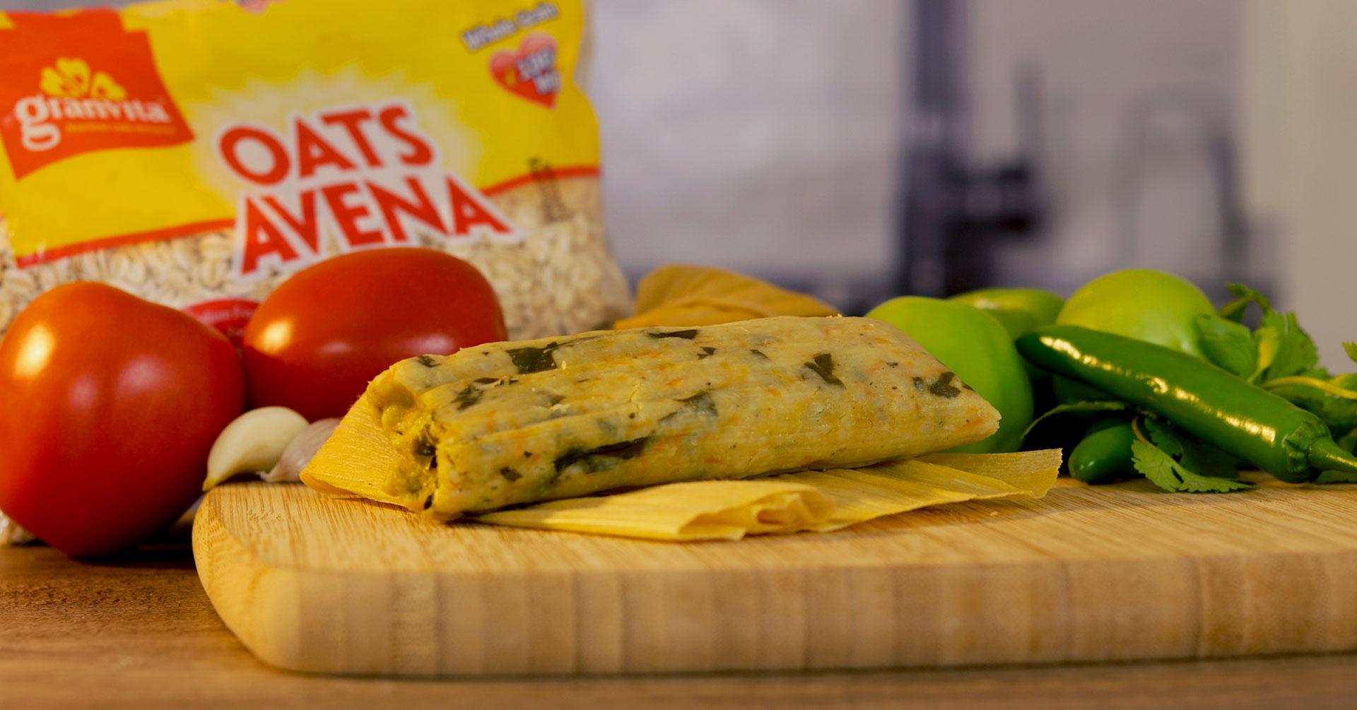 Tamales con avena y pollo para el Día de la Candelaria