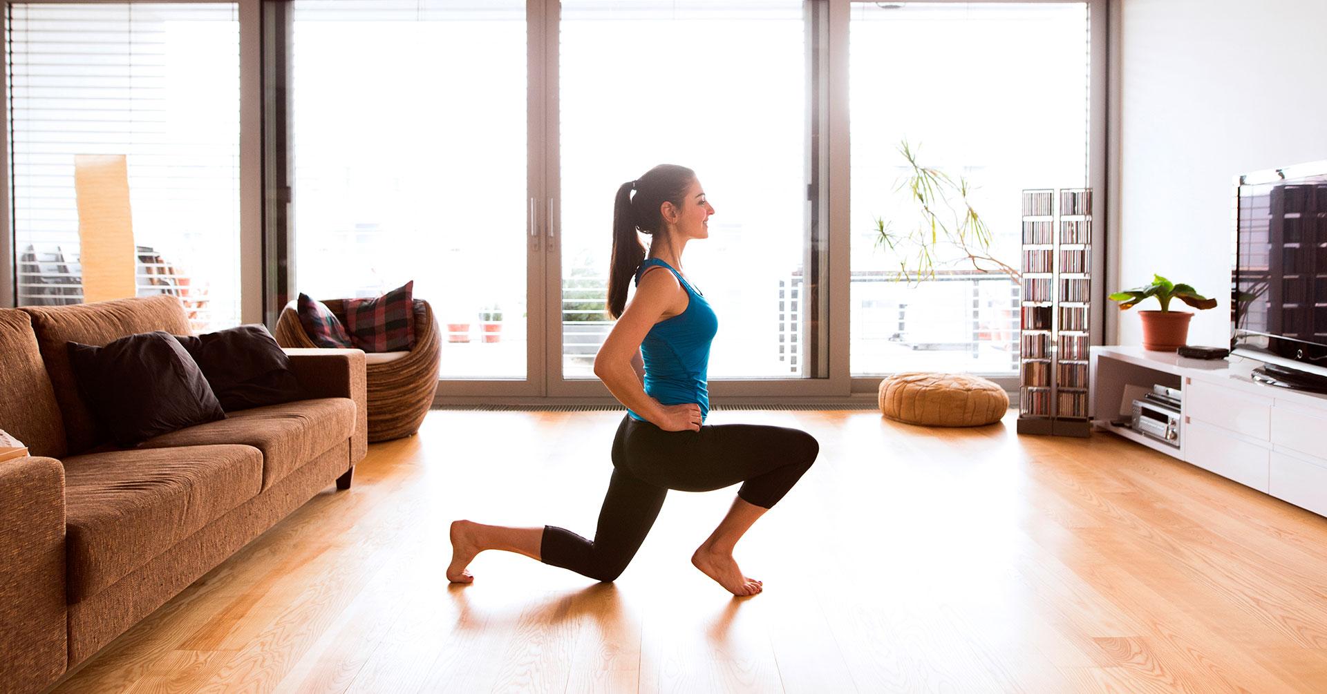 Empieza la semana con una rutina de ejercicios en casa