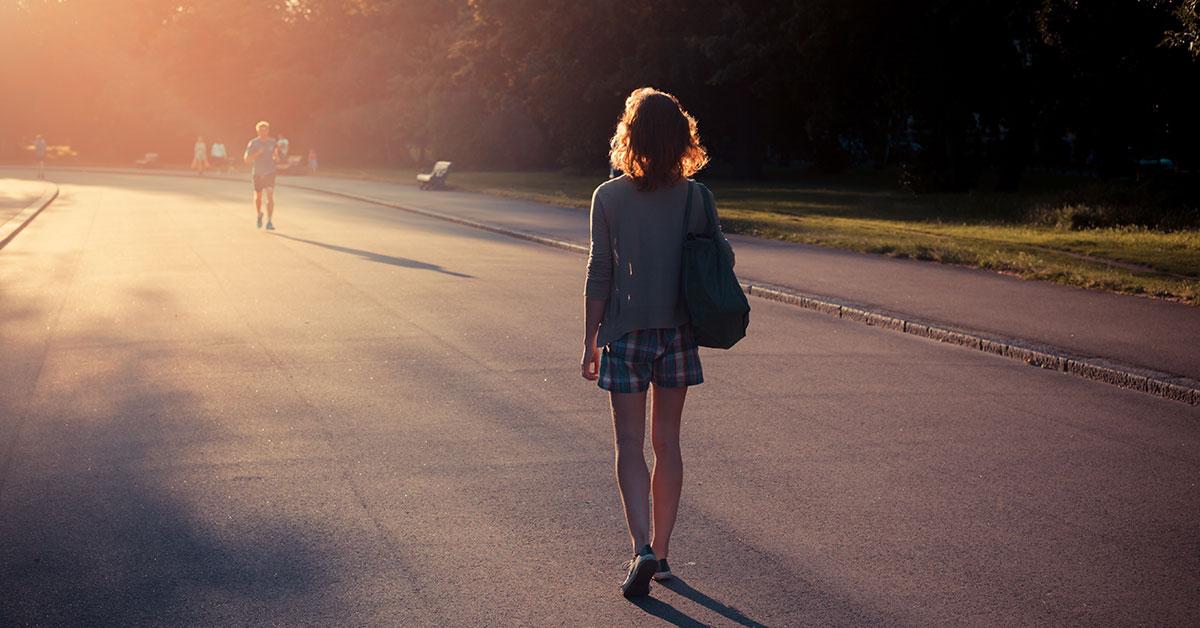 Meditar mientras caminas