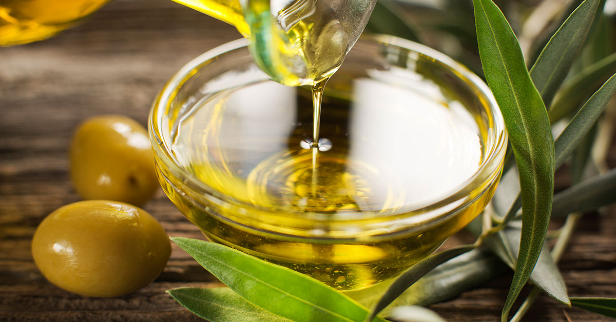 Aceite de oliva para exfoliar.
