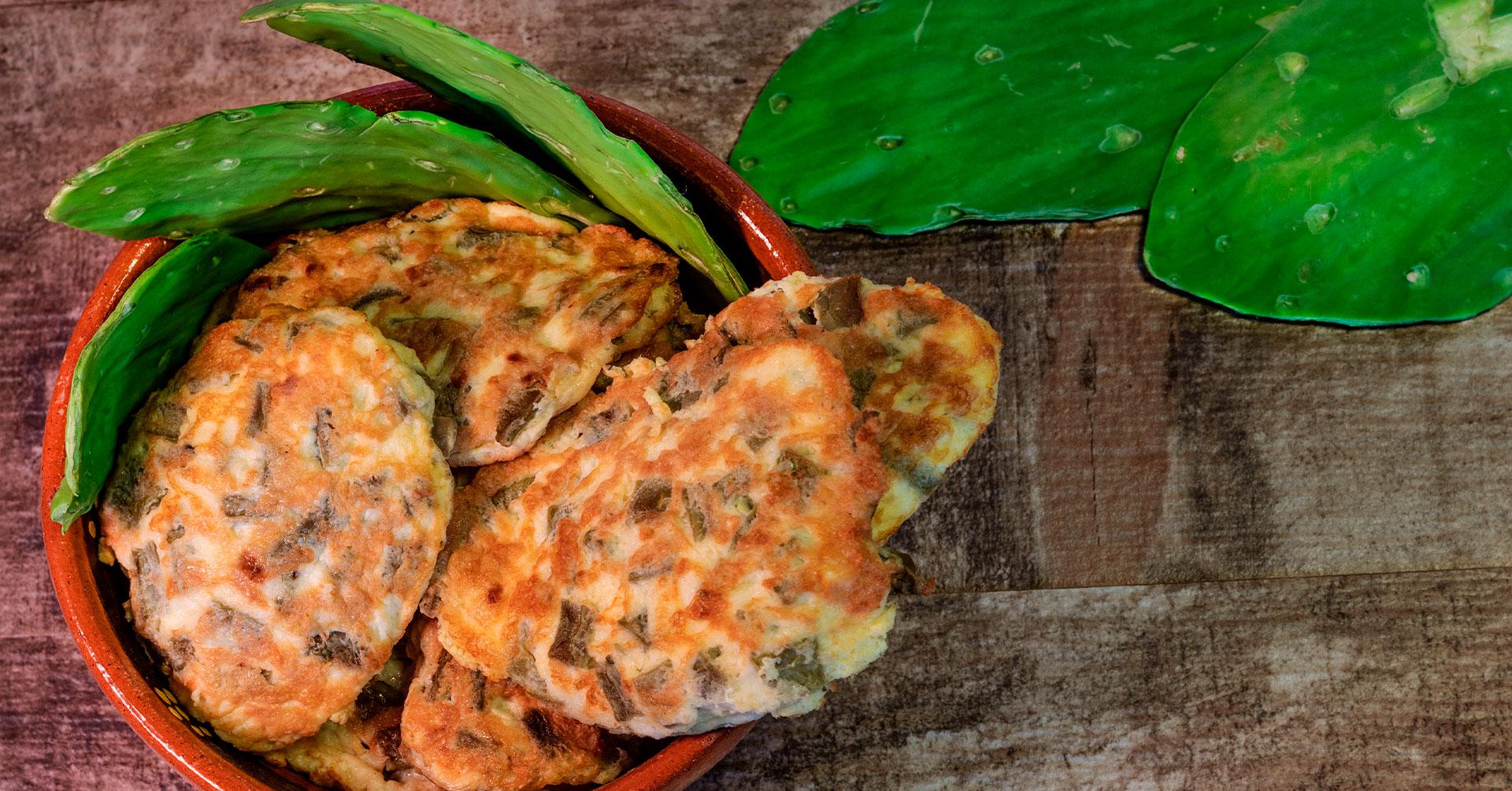 Tortitas de nopales con avena