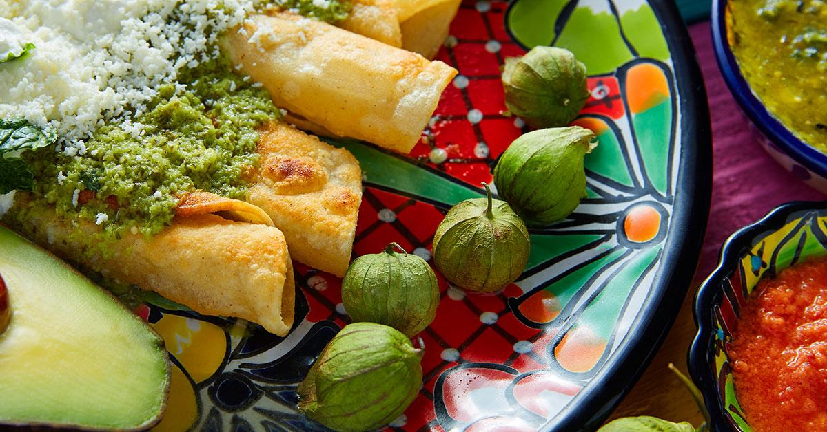 Enchiladas con tortillas integrales de avena