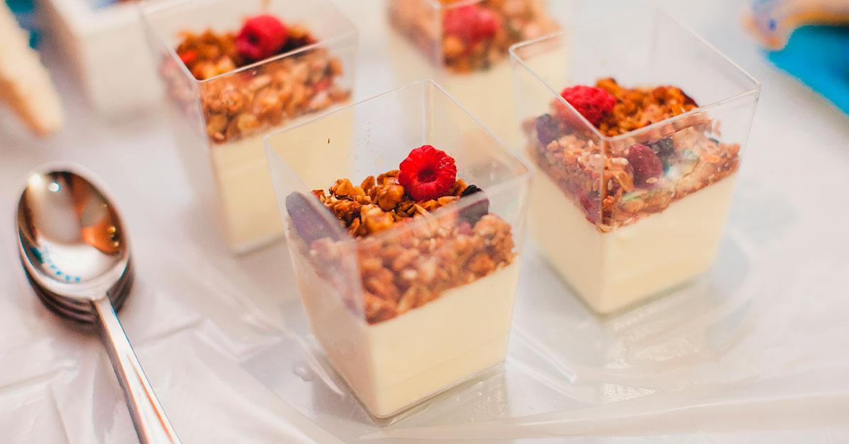 4. Gelatina de yogur con miel