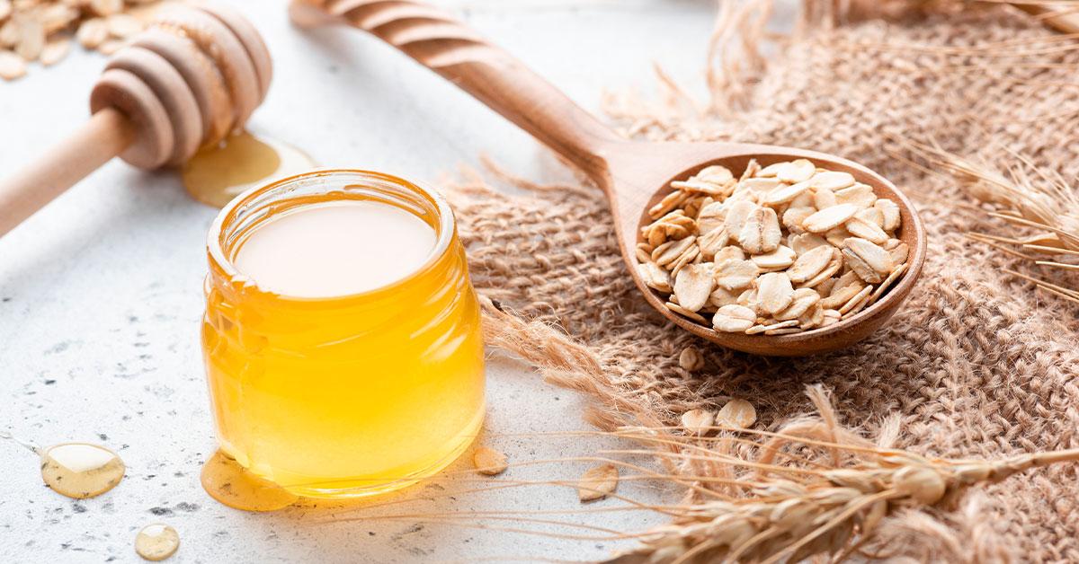 Tratamiento de avena y miel