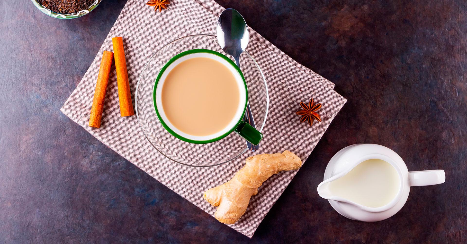 Prepara un saludable latte de jengibre
