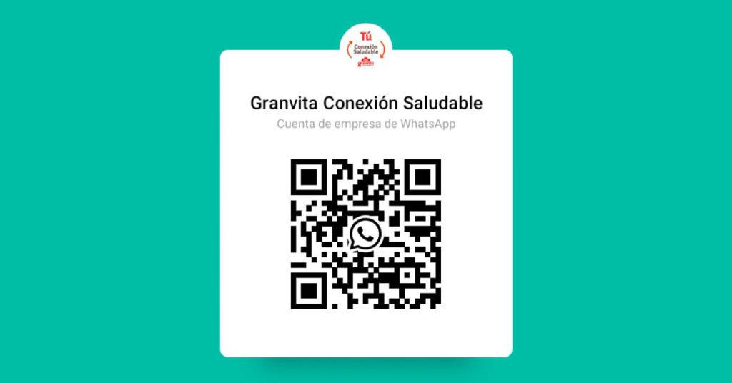 Código de escaneo para obtener información de Conexión Saludable por Granvita