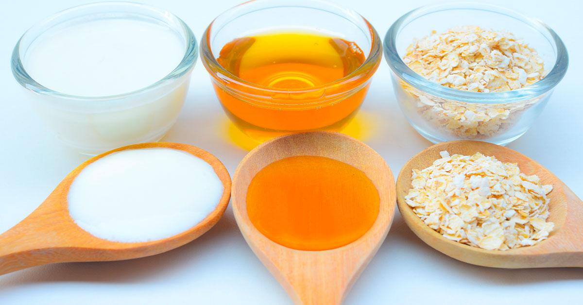 Tratamientos naturales con avena para el cabello con miel y yogur