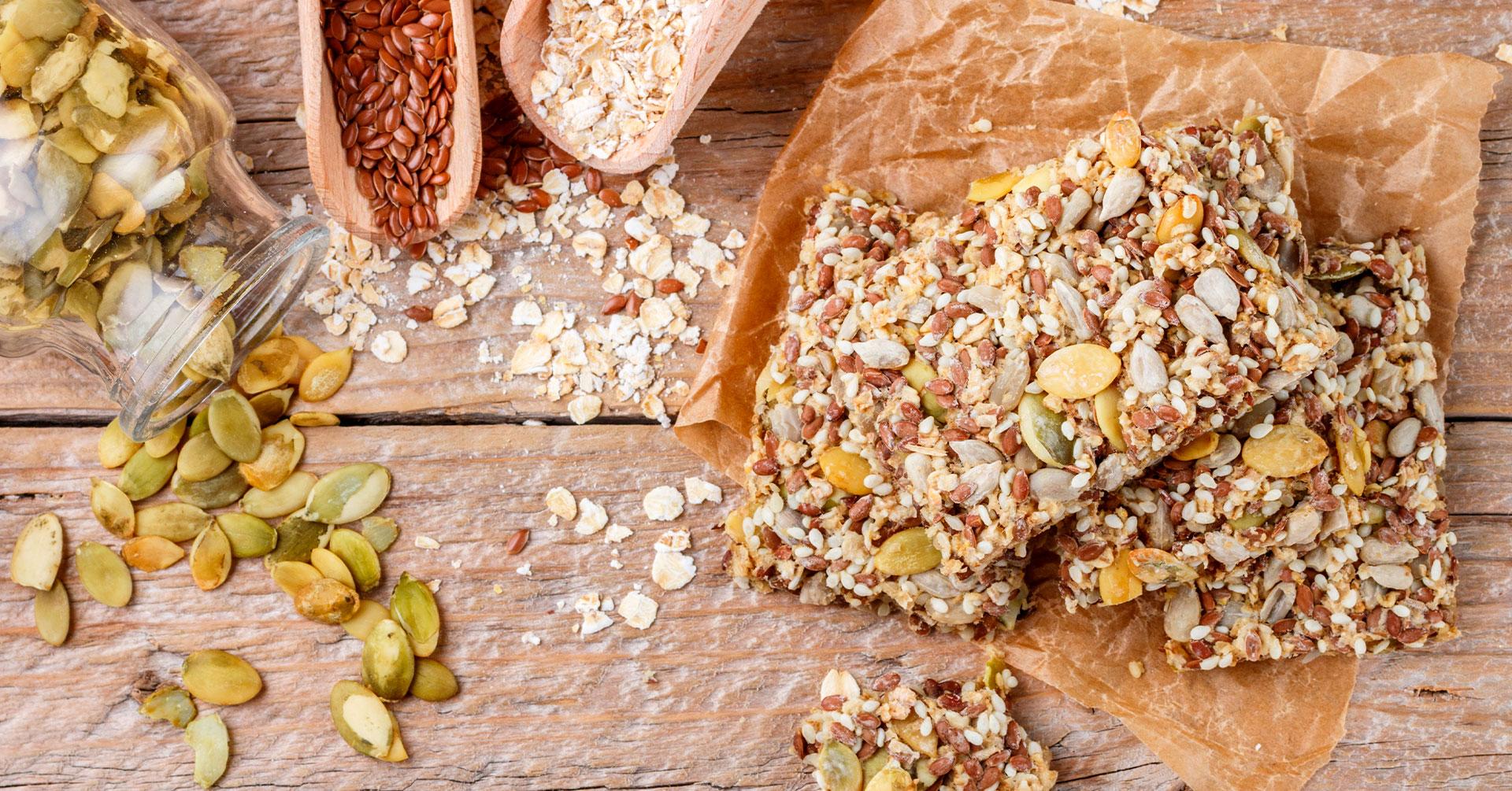 Galletas crujientes de semillas y avena
