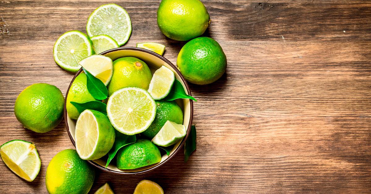Frutas de temporada de invierno: lima