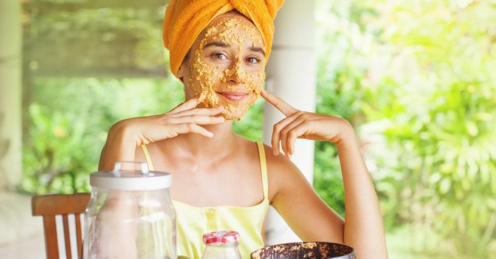 Imagen de mascarillas de avena para tratar la piel grasa.