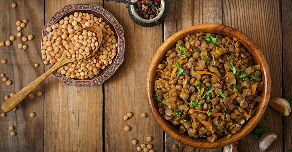 Imagen de lentejas para artículo de alimentos nutritivos de Granvita.