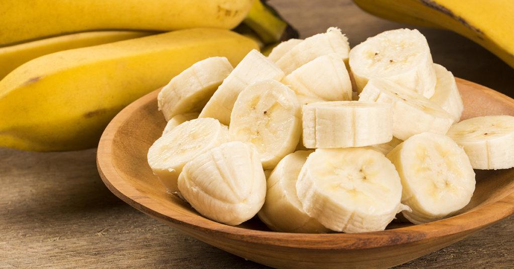 Imagen de plátanos para artículo de alimentos nutritivos de Granvita.