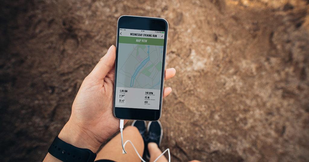 Imagen que explica cuáles son las apps para correr.