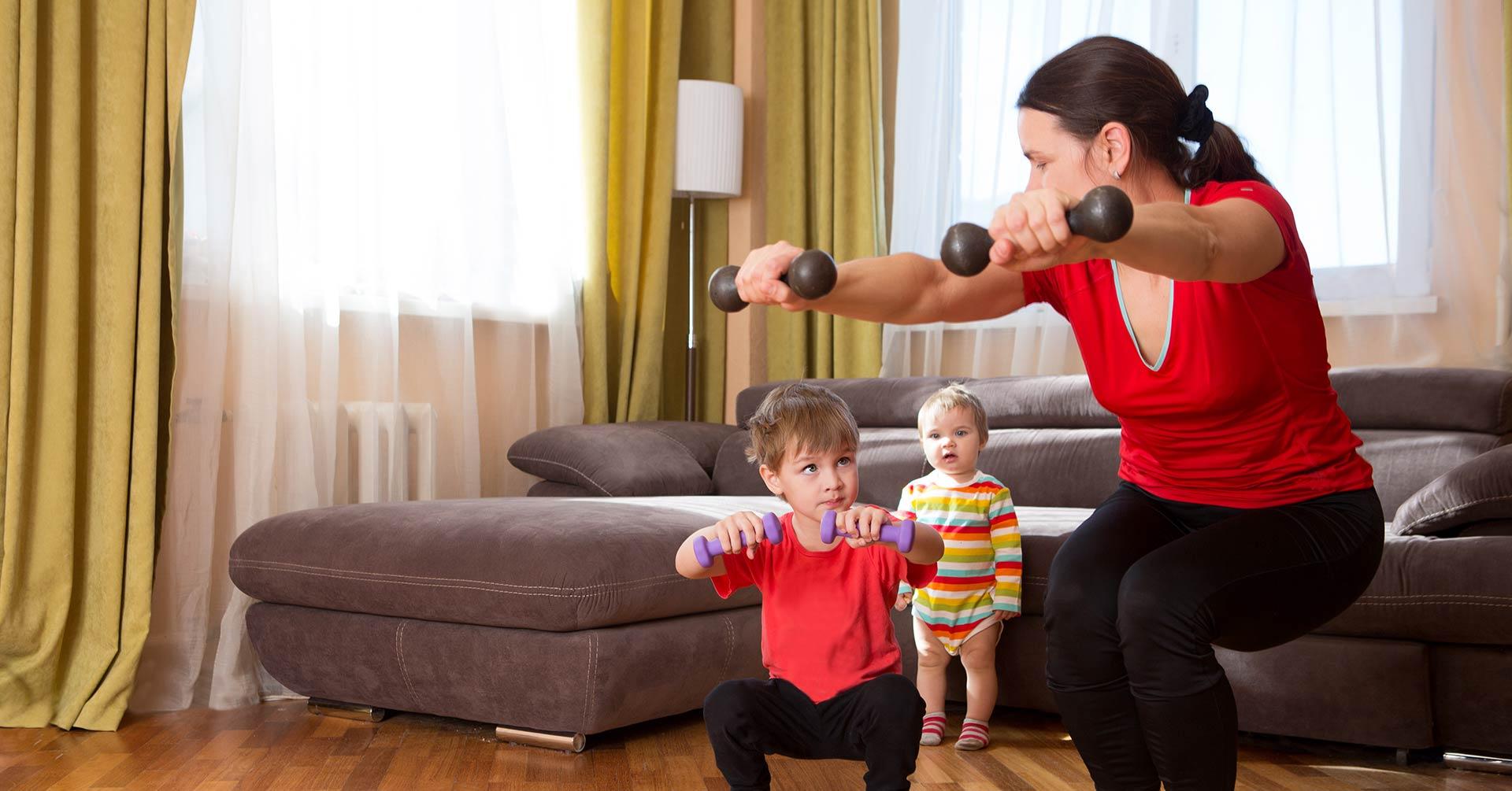 Cinco ejercicios para niños en casa, ¡son divertidos y muy fáciles!