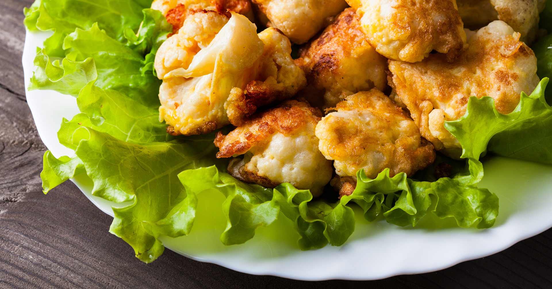 Nuggets de coliflor con avena