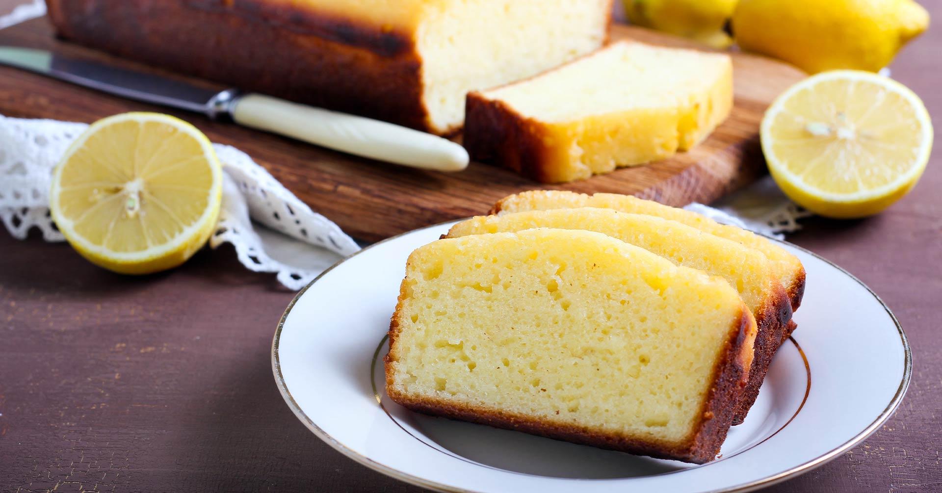 Panqué de limón con harina de avena