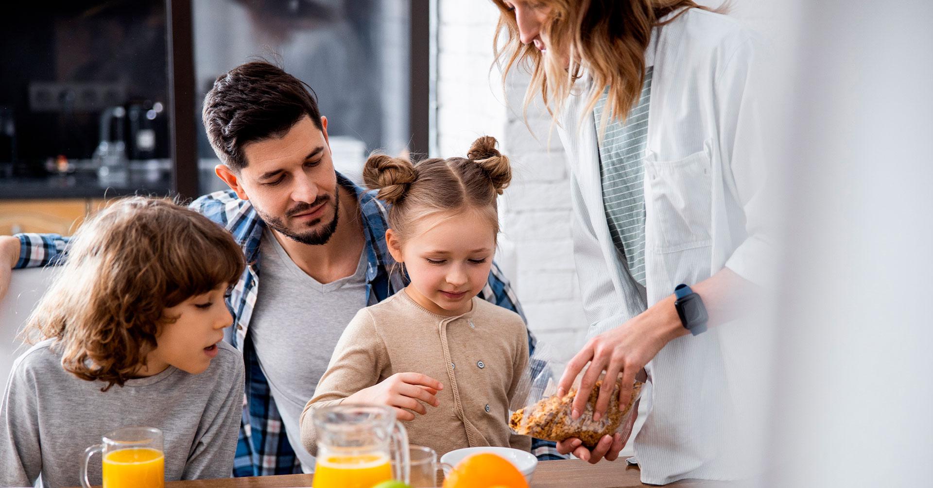 Incluir recetas con granola en la dieta de tu familia beneficiará su salud