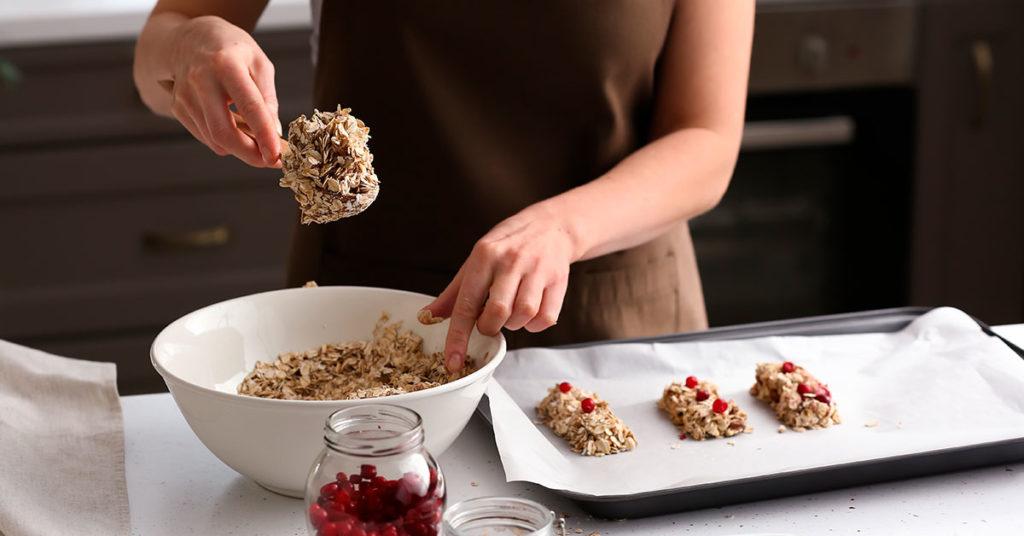 Imagen de preparación de barritas de granola